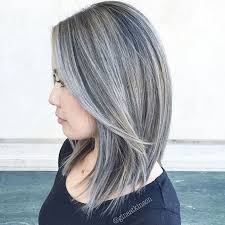 beautiful gray hair streaks silver and white hair highlights best hair color trends 2017