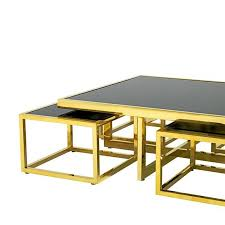 Gold Table L Square Four Pieces Coffee Table Gold Finish Or Polished Stainless