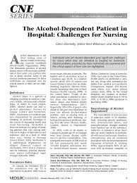 the alcohol dependent patient in hospital challenges for nursing