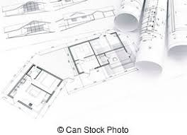 picture of rolled building plans blueprint floor plans with