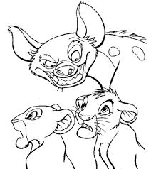 nala coloring pages the lion king images coloring pages simba nala banzi hd