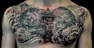 images of foo dogs 16 foo dog tattoos on chest