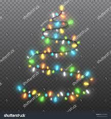 shape christmas tree garlands festive decorations stock vector