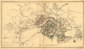 Atlanta Georgia On Map by Fort X History Atlanta
