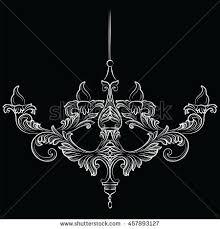 classic chandelier set collection luxury decor stock vector