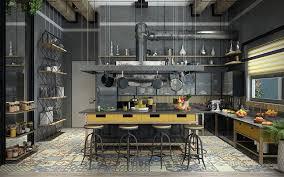 industrial interior thiết kế nội thất phòng bếp theo phong cách industrial interior 2