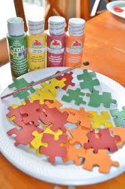 fall autumn puzzle piece kid u0027s craft surviving a teacher u0027s salary