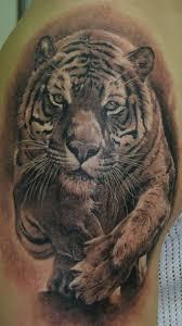 53 outstanding tiger shoulder tattoos