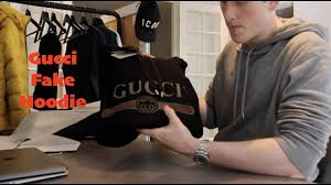 gucci hooded sweatshirt with gucci logo print unboxing review