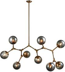 New Chandelier Dimond Lighting D3564 Synapse 9 Light 60 Inch New Aged Brass And