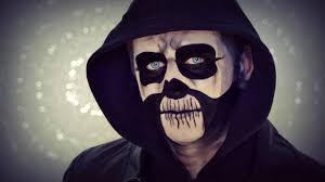 halloween skull make up man youtube