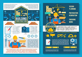 home constru tion and house building planning poster or brochure