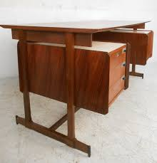 Mid Century Desk Mid Century Modern Italian Rosewood And Teak Floating Top