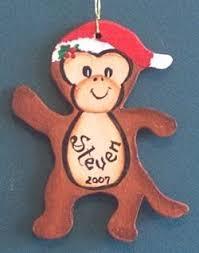 personalized monkey ornament