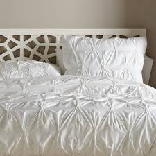 organic cotton pintuck duvet cover shams west elm
