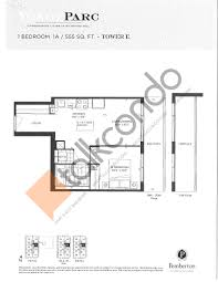 The Parc Condo Floor Plan by Yongeparc Phase 2 Condos Talkcondo