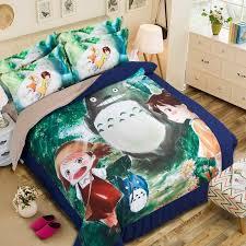 Japanese Comforter Set Studio Ghibli My Neighbor Totoro 3d Japanese Anime Totoro Full