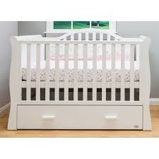 Sleigh Cot Bed Brbaby Oslo Sleigh Cot Bed White With Drawer
