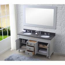 bathroom double sink vanity bathroom white brick wall and white windows curtains also double