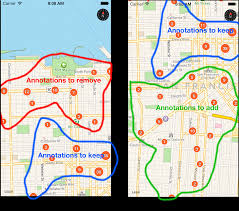 Google Maps By Coordinates How To Efficiently Display Large Amounts Of Data On Ios Maps