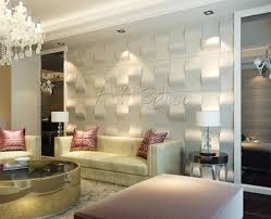 luxury living room wall panel design modern with kitchen set or
