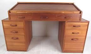teak roll top desk contemporary modern danish teak roll top desk 7204 nj ebay