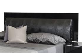 Italian Modern Bedroom Furniture Modrest Grace Italian Modern Black Bed Modern Bedroom Bedroom