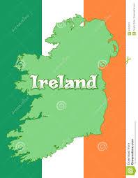 map of ireland on the background of the flag of ireland irish