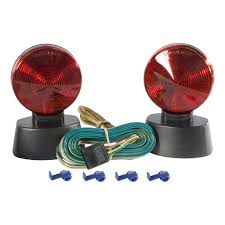 curt manufacturing curt magnetic towing lights 53200