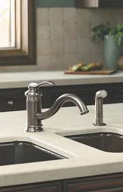 kitchen faucet brushed nickel faucet k 12176 bn in brushed nickel by kohler
