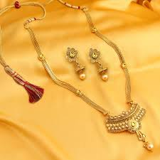 gold jewellery necklace sets images Buy necklace sets online temple jewellery gold plated neckace jpg