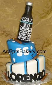 two tier custom blue white and black mad hatter men u0027s birthday