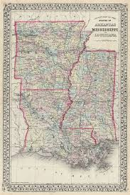 me a map of arkansas county map of the states of arkansas mississippi and louisiana