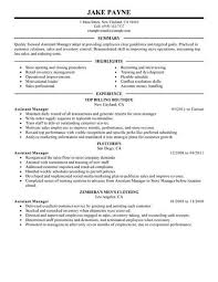 assistant manager resume best retail assistant manager resume exle livecareer