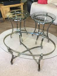 furniture teak coffee table with solid smoked glass artistic