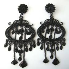 black chandelier earrings black large danglers antique chandelier earrings global sources