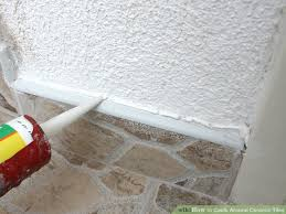 Caulking Bathroom Floor How To Caulk Around Ceramic Tiles 8 Steps With Pictures