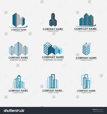 set building logo design real estate stock vector 282316856