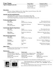 Technical Theatre Resume Template Term Papers Divorce Essays Stories Kind Writing Book Report About