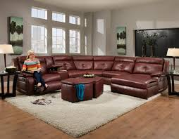 Motion Living Room Furniture Southern Motion Dash Contemporary Styled Reclining Sectional Sofa