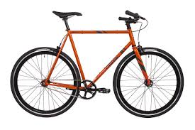 orange and black fixed gear track bike fyxation