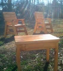 Build Wood Outdoor Furniture by How To Build 2 Outdoor Arm Chairs And A Side Table Jays Custom