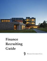 Walk Me Through An Lbo Model Western Investment Club Finance Recruiting Guide By David Tsui