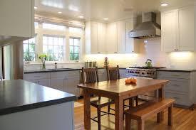 kitchen design dark wooden countertop gray wall stunning kitchen