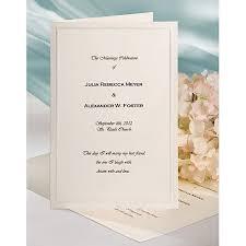 bi fold wedding program wilton print your own bi fold programs kit 50 ct 1008 2301