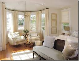 Rods For Bay Windows Ideas Bay Window Treatments Rods Mitered I Simplified Bee