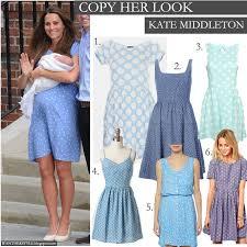 copy her look kate middleton in light blue polka dot dress
