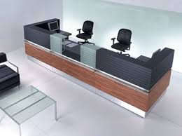 modular office reception desk with built in lights point by las mobili