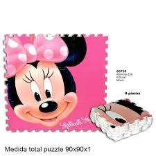 tappeto puzzle disney minnie tappeto puzzle gigante morbido 9 pezzi 90x90cm topolina