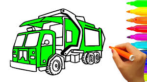 learn colors with construction truck colouring book for kids
